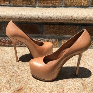 Nude Tribute Ysl Tribtoo Two Patent Leather Pump